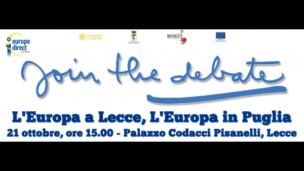 "Europe Direct del Salento presenta ""L'Europa a Lecce, L'Europa in Puglia"""